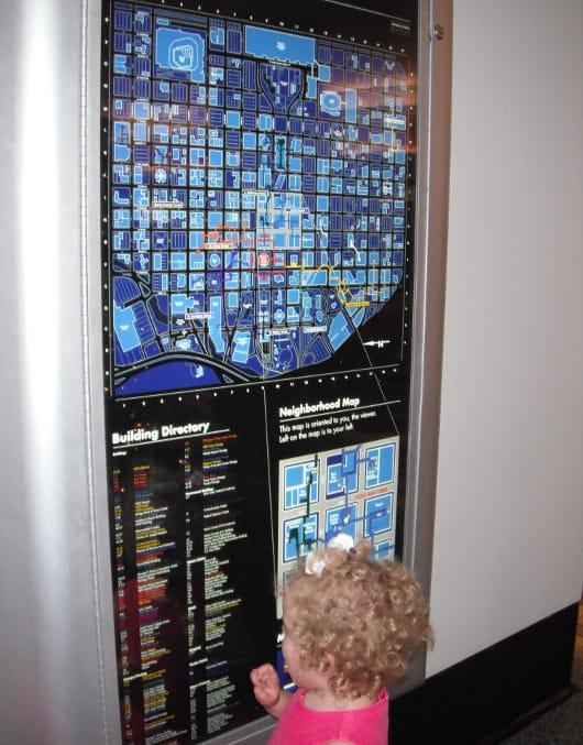Maps in Downtown Underground Tunnels