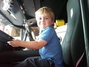 Joe Driving Firetruck5