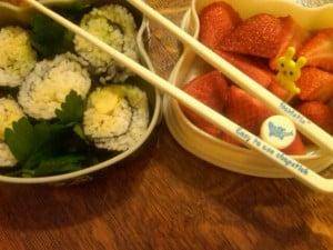 Avocado Sushi Cut