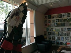 Brazos Bookstore Sculpture