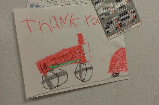 Fire Station 16 Thank You Note