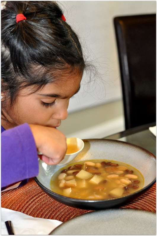 Eating Bean Soup