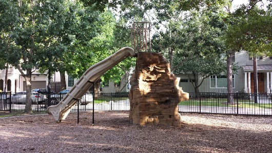 Judson Park West University Rock Slide