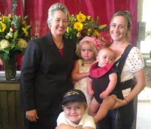 Mayor Annise Parker and Kids
