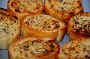 No Garlic Garlic Bread