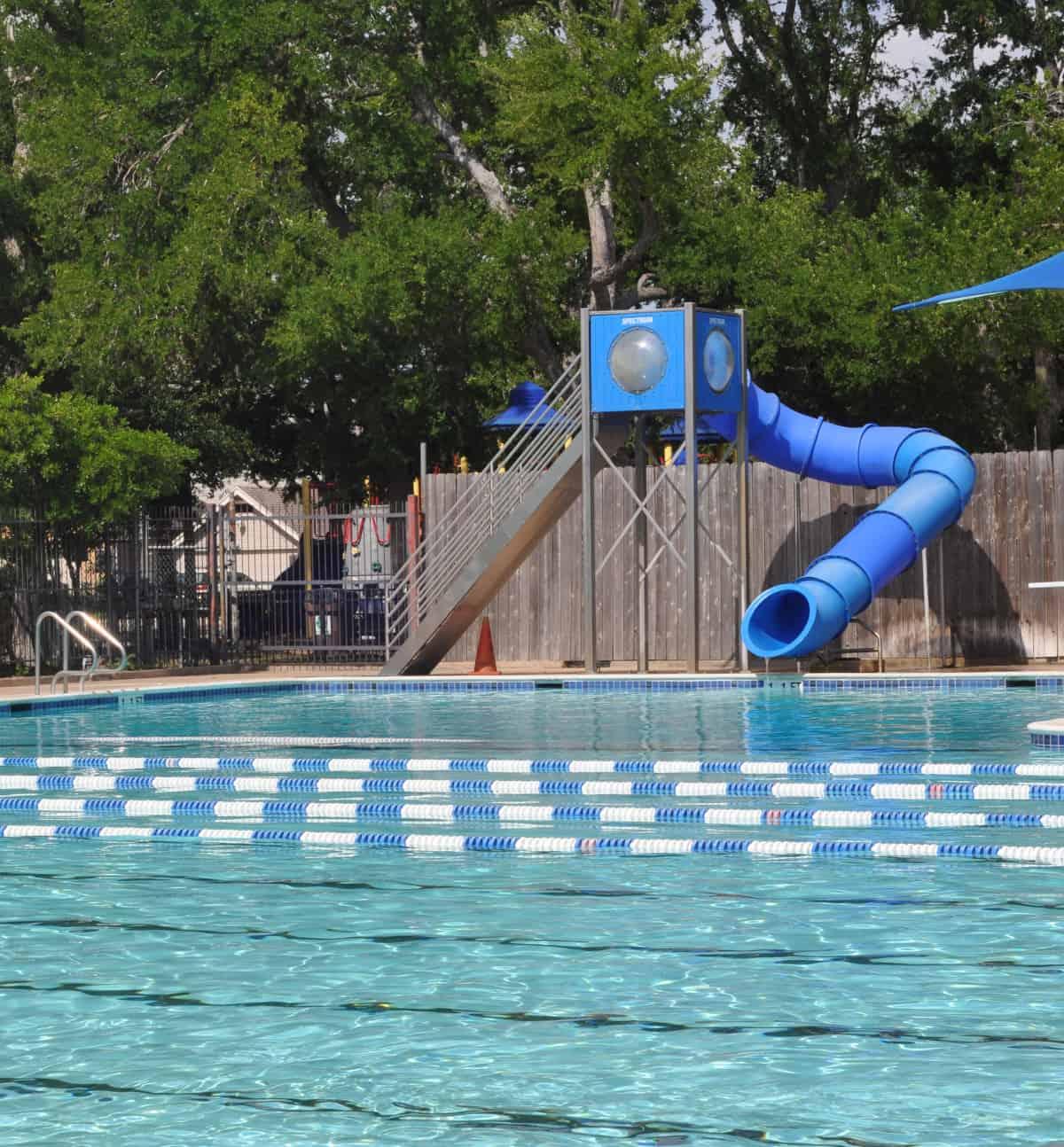 Evergreen Pool slides