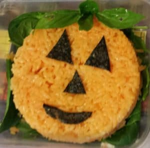 JackOLantern Rice Ball with Stem