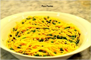 Pea Pasta for Dinner