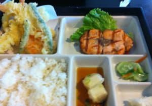 Salmon and Tempura Bento Box