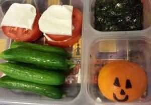 Tomatoes, Mozzarella and Jack o Lantern