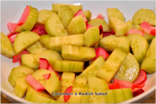 Cucumber & Radish Salad