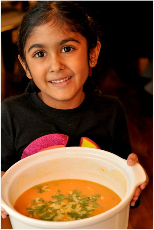 Pretty Girl and Sweet Potato Soup