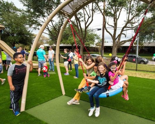 Quillian Center Playground Tire Swing