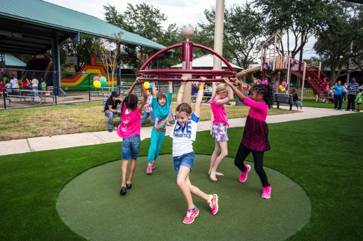 Spinning at the Quillian Center Playground