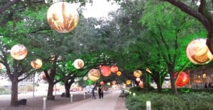 Balls at Discovery Green