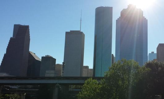 Downtown from Sabine Street Bridge