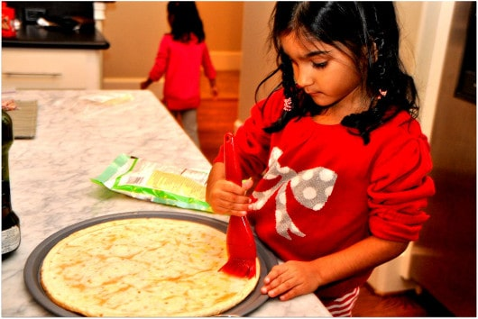 Helping Mom Make Pizza