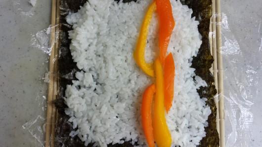 How to Make Sushi - Rice Nori Veggie and Bamboo