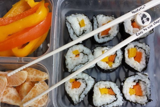 How to Make Sushi for School Lunch with Chopsticks