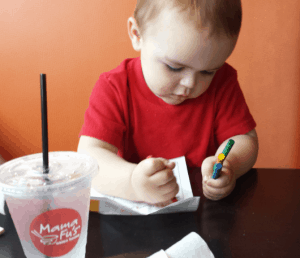James Coloring at Mama Fus