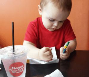 James Coloring at Mama Fus