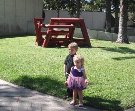 Joe and Brooke at Cullen Sculpture Garden