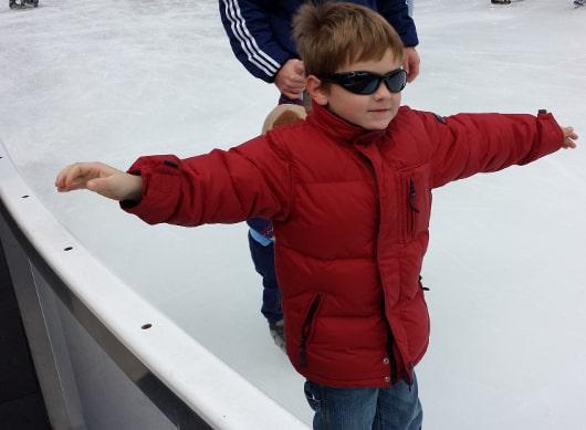 Joe at the Ice at Discovery Green