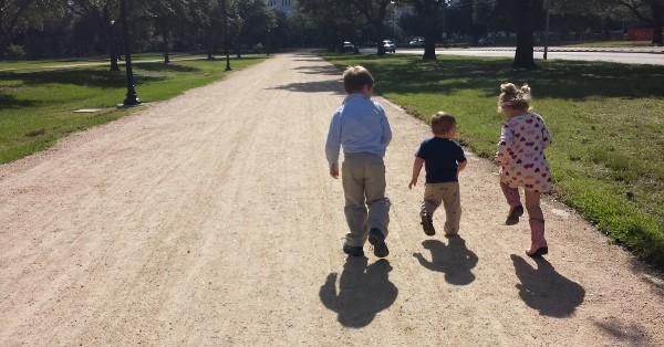 JoeBrookeJames Walking Path in Hermann Park