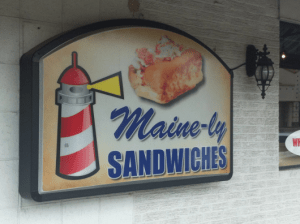 Mainely Sandwiches Sign
