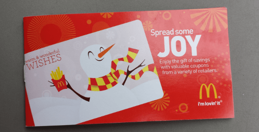 "McDonald's ""Spread Some Joy"" Holiday Coupon Book Replaces the ..."