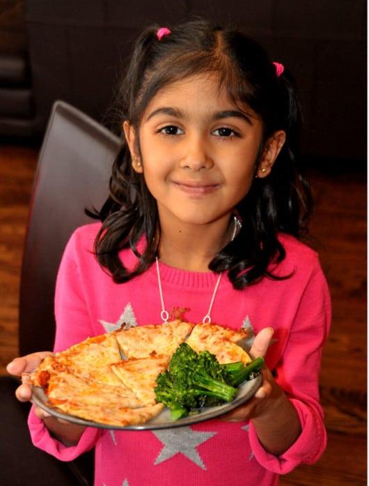 Pizza and Broccolini