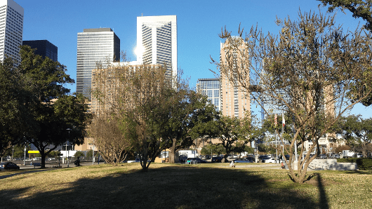 Root Memorial Square in Downtown Houston