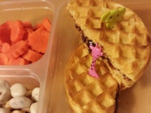 Waffle Sandwich with Animal Picks