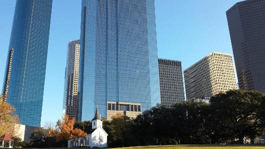 Church at Sam Houston Park