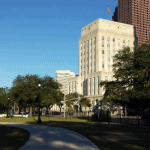 City Hall from Sam Houston Park