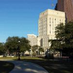 City Hall from Sam Houston Park
