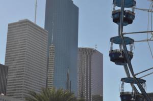 Downtown Skyline at Downtown Aquarium Ferris Wheel