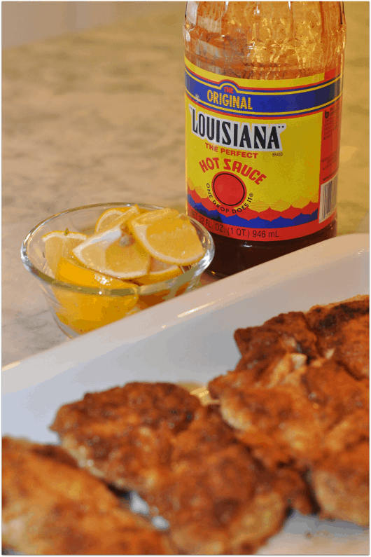 Fried Chicken Hot Sauce and Lemons