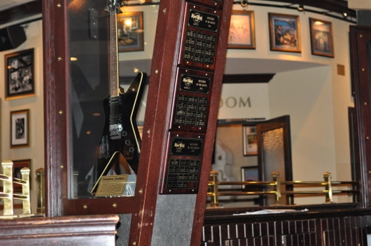 Guitar Behind Glass at Hard Rock Cafe