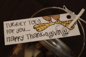Julie Verville thanksgiving turkey toes