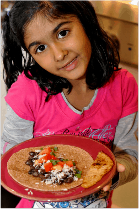 Kids like to make their own tacos