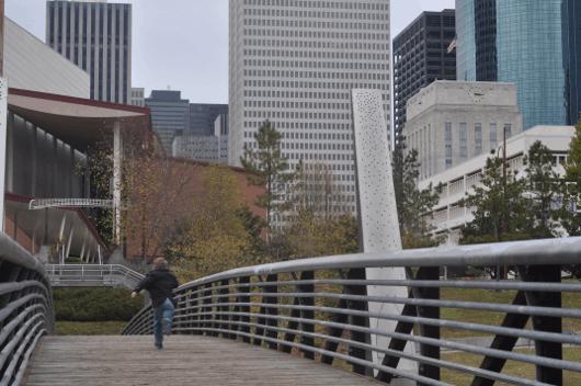 Ped Bridge at Sesquicentenial Park