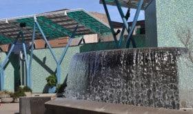 Jones Plaza Waterfall in Houston