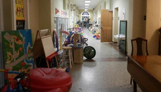 Poe Co Garage Sale Hallway
