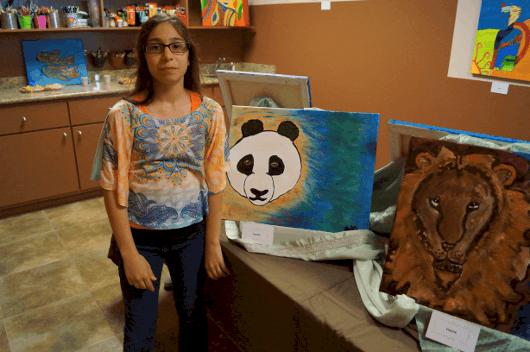 Artwork at Young Artist Art Studio