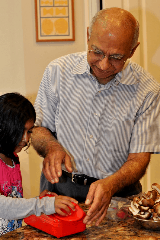 Grandpa helping make dinner2