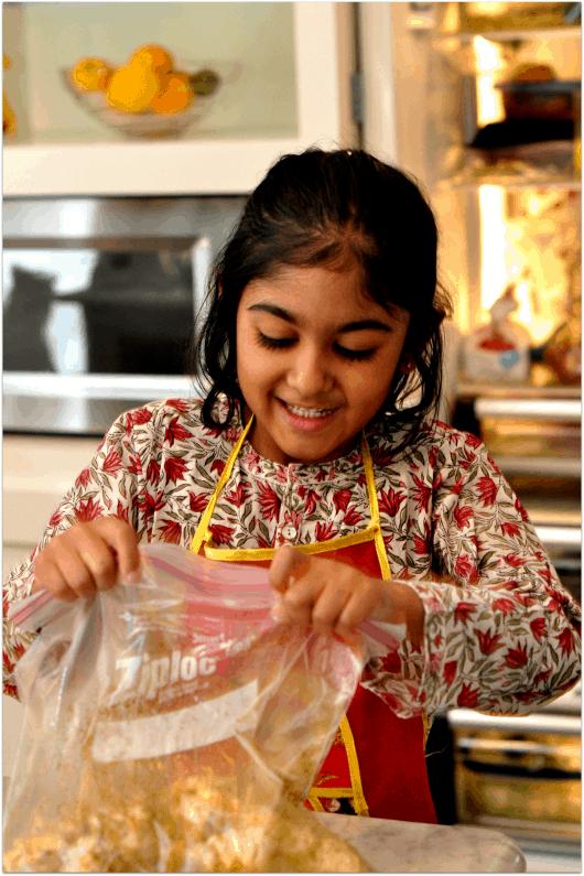 Shaking Bag for Roasted Masala Cauliflower