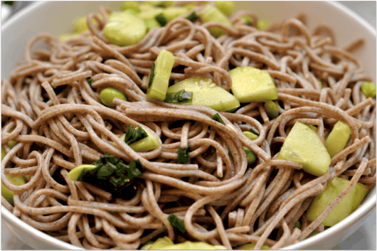 Soba Noodles and Cucumbers