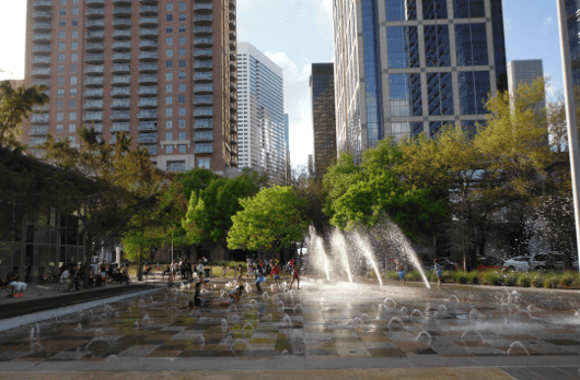 Splashpad at Discovery Green