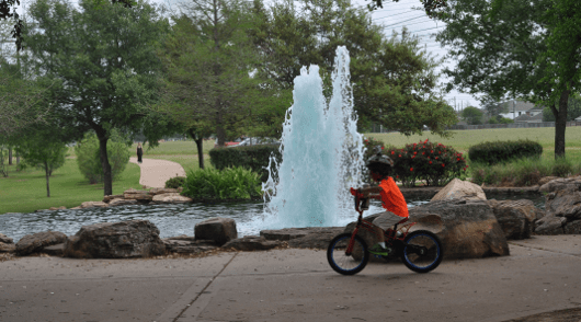 Bike Riding at Oyster Creek Park